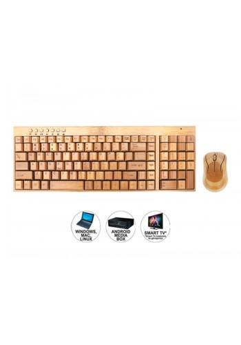Goldmaster BKM-975 Bamboo Kablosuz Klavye Mouse Set